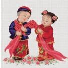 สินค้างานฝีมือ-ครอสติสลายอวยพรแต่งงาน (จีน)