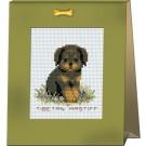 สินค้างานฝีมือ-ครอสติสลายลูกหมาแสนรัก - TIBETAN MASTIFF
