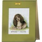 สินค้างานฝีมือ-ครอสติสลายลูกหมาแสนรัก - BASSET HOUND
