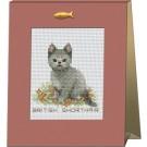 สินค้างานฝีมือ-ครอสติสลายลูกแมวแสนรัก - BRITISH SHORTHAIR