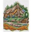 สินค้างานฝีมือ-ครอสติสลายบ้านซุ้มดอกไม้ III