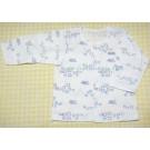 เสื้อแขนยาวติดกระดุมแป๊ะด้านหน้า สำหรับเด็ก 12 เดือน ลายฝูงแกะสีฟ้า ยี่ห้อ Absorba