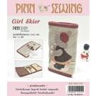 สินค้างานฝีมือ-ชุดคิทควิลท์ งานเย็บที่เก็บกุญแจ Girl Skier ( key holder pocket) Quilt