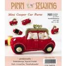 สินค้างานฝีมือ-ชุดคิทควิลท์ งานเย็บกระเป๋าบิดคลิ๊บ Mini Cooper Car Purse Quilt