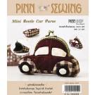 สินค้างานฝีมือ-ชุดคิทควิลท์ งานเย็บกระเป๋าบิดคลิ๊บ Mini Beetle Car Purse Quilt