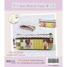 สินค้างานฝีมือ-ชุดคิทควิลท์ ชุดคิทควิลท์ งานเย็บกระเป๋า Sue pencil Case B