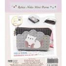 สินค้างานฝีมือ-ชุดคิทงานควิลท์ ชุดคิทควิลท์ งานเย็บกระเป๋าซิปใส่เหรียญ Relak Neko Mini Purse
