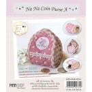 สินค้างานฝีมือ-ชุดคิทงานควิลท์ ชุดคิทควิลท์ งานเย็บกระเป๋า Na Na Coin Purse (Pink)