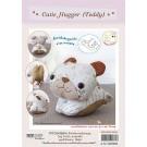 สินค้างานฝีมือ-ชุดคิทงานควิลท์ ชุดคิทควิลท์ ตุ๊กตาไม้หนีบ Cutie Hugger  (Teddy)
