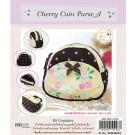 สินค้างานฝีมือ-ชุดคิทงานควิลท์ ชุดคิทควิลท์ งานเย็บกระเป๋า Cherry Coin Purse A (Yellow)