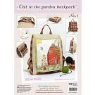 สินค้างานฝีมือ-ชุดคิทงานควิลท์ ชุดคิทควิลท์ งานเย็บกระเป๋าเป้ Cat in the garden backpack