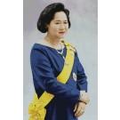 สินค้างานฝีมือ-ครอสติสลายสมเด็จพระพี่นางฯ (ฉลองพระองค์สีน้ำเงิน-ใหญ่)