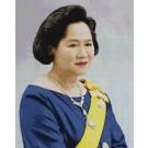 สินค้างานฝีมือ-ครอสติสลายสมเด็จพระพี่นางฯ (ฉลองพระองค์สีน้ำเงิน-เล็ก)