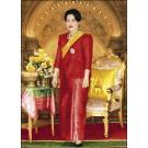 สินค้างานฝีมือ-ครอสติสลายสมเด็จพระราชินี(ฉลองพระองค์สีแดง)