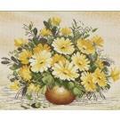 สินค้างานฝีมือ-ครอสติสลายลาย DMC ดอกไม้สีเหลือง