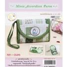 สินค้างานฝีมือ-ชุดคิทควิลท์ งานเย็บกระเป๋าใส่เหรียญ Minie Accordion A Quilt