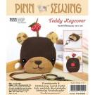 สินค้างานฝีมือ-ชุดคิทควิลท์ งานเย็บที่เก็บกุญแจ Teddy Keycover Quilt