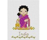 สินค้างานฝีมือ-ครอสติสลายเด็กนานาชาติ - อินเดีย