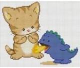 สินค้างานฝีมือ-ครอสติสลายแมวกับก๊อตจิ