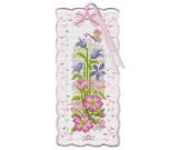 สินค้างานฝีมือ-ครอสติสลายบุ๊คมาร์ค ดอกไม้และผีเสื้อ