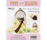 สินค้างานฝีมือ-ชุดคิทควิลท์ งานเย็บกระเป๋าบิดคลิ๊บ Mini Farm Purse A (Yellow) Quilt