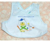 ผ้ากันเปื้อนเด็ก ลายหมีฟ้า shopping ยี่ห้อ enfant เบอร์ 00 เนื้อผ้าฝ้าย cotton 100%