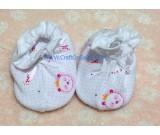 ถุงเท้าเด็กลายหมีแพนด้าสีชมพู ยี่ห้อ enfant
